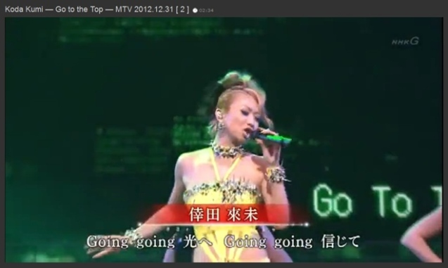Koda Kumi — Go to the Top — MTV 2012.12.31