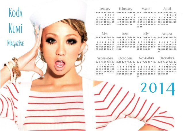 Koda Kumi Bon Voyage Calendar 2014_3