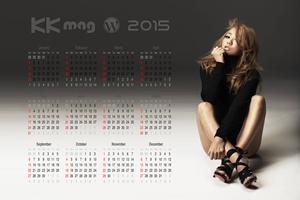 """Koda Kumi Calendar 2015"" ""倖田來未 2015 年カレンダー 壁紙"""